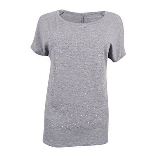 Tommy Hilfiger Women's Holly Embellished T-Shirt - medium grey heather (3 options available)