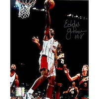 65a044b6f6d5e Shop CTBL-BW14430 Eddie Johnson Signed Houston Rockets Photo Custom ...