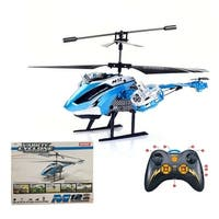 Super buy Skytech 4.5CH M12 Infrared RC Helicopter Shoot Bubbles Blue With Gyro New