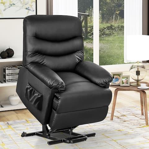 Merax Black Faux Leather Lift Reclining Chair