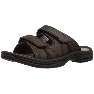 Propét Mens Vero Leather Slip On Open Toe Sport Sandals - 8.5