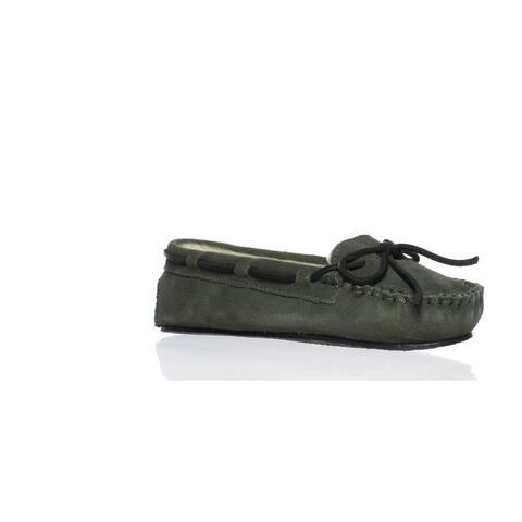 Minnetonka Womens Cally Grey Moccasin Slippers Size 5