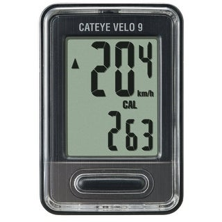 CatEye Velo 9 Cycling Computer - CC-VL820 Black
