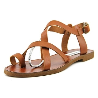 Steve Madden Agathist Women Open Toe Leather Brown Gladiator Sandal