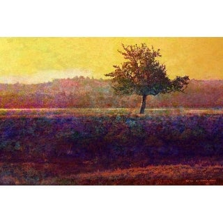 Marmont Hill Lone Tree Sunset Chris Vest Painting Print on Canvas