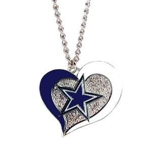 Dallas Cowboys NFL Swirl Heart Necklace