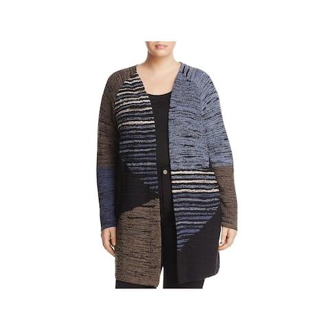 Nic + Zoe Womens Plus Layover Cardigan Sweater Wool Blend