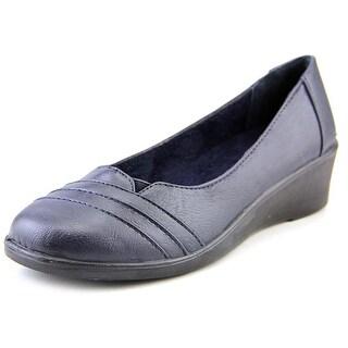 Easy Street Marsh Women N/S Open Toe Synthetic Blue Wedge Heel