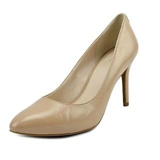 Cole Haan Gwenda Pump II   Round Toe Leather  Heels