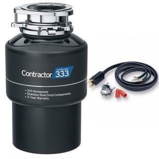 InSinkErator Contractor 333 Contractor Series 3/4 HP Garbage Disposal with Stainless Steel Grind components and Dura-Drive Motor