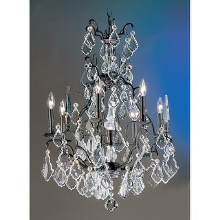 """Classic Lighting 8007 33"""" Crystal Cast Brass Chandelier from the Versailles Collection"""