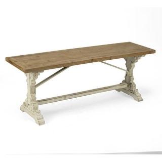 Wood Farmhouse Style Bench