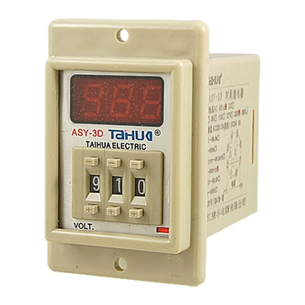 AC 220V 1-999 Minute Panel Mounting Time Delay Relay ASY-3D