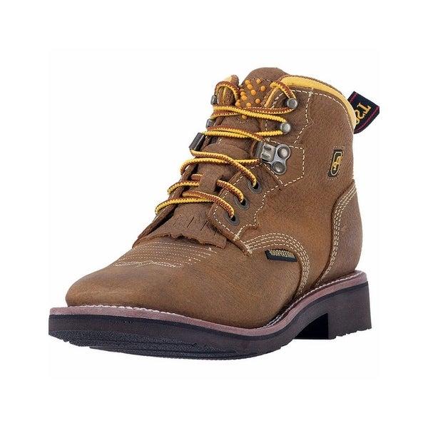 "Dan Post Work Boots Womens Mesa 5"" Waterproof Lace Up Brown"