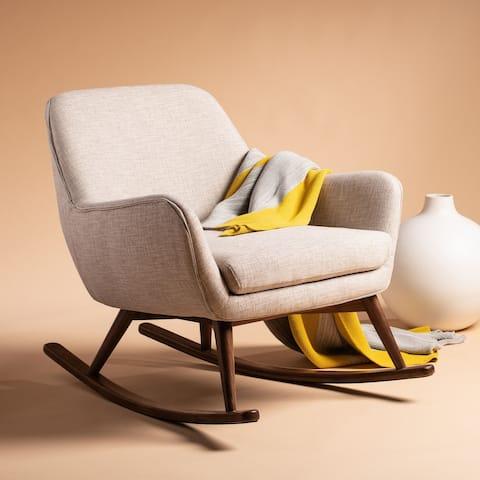 "SAFAVIEH Couture Mack Mid-Century Rocking Chair - 32""x37.4""x31.5"""