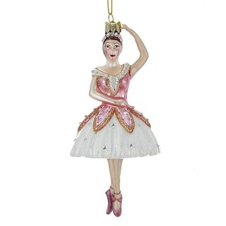 Pack of 8 Cream White and Pink Dancing Ballerina Decorative Ornaments 6.25""
