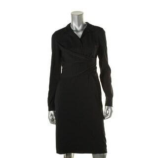 Kobi Halperin Womens Shira Wrap Waist Lined Wear to Work Dress
