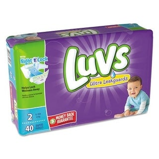 PROCTER amp; GAMBLE - DIAPERS,LUVS,S2,2/40CT