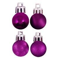 Vickerman  Purple Acrylic Beaded Ball Ornament - 6 in. - 2 per Box