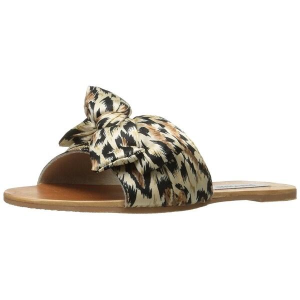 Steve Madden Womens Alex Fabric Round Toe Casual Slide Sandals