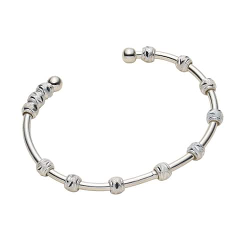 Chelsea & Charles Women's Count Me Healthy Cuff Bracelet -Sterling Silver Plated