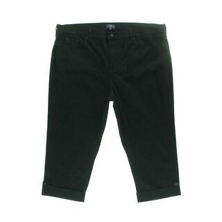 NYDJ Womens Plus Denim Cuffed Cropped Jeans - 14W