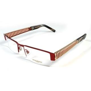Boucheron Unisex Slim Rectangular Eyeglasses Red/Gold - S