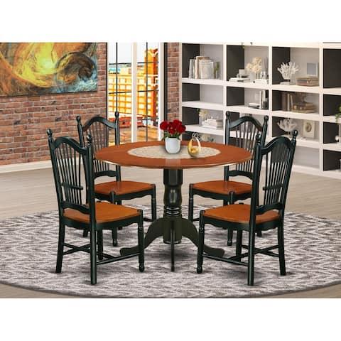 DLDO3-BCH-W 3Pc Dublin Set- table & 2chairs