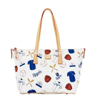Dooney & Bourke MLB Royals Zip Top Shopper (Introduced by Dooney & Bourke at $248 in Feb 2015) - White