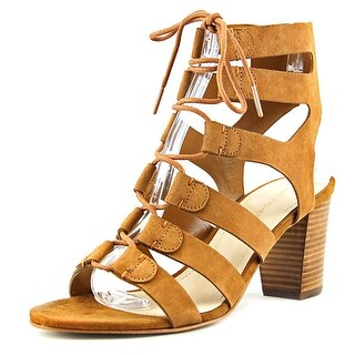 Marc Fisher Patsey Women Open Toe Suede Brown Sandals