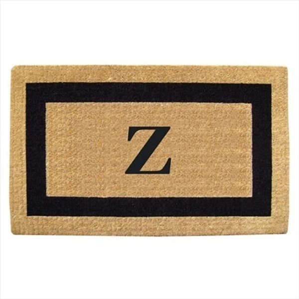 Nedia Home 02020A Single Picture - Black Frame 22 x 36 In. Heavy Duty Coir Doormat - Monogrammed A