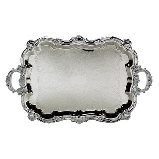Leeber 89731 Baroque Tray Footed 18 in. x 30 in. with Handles