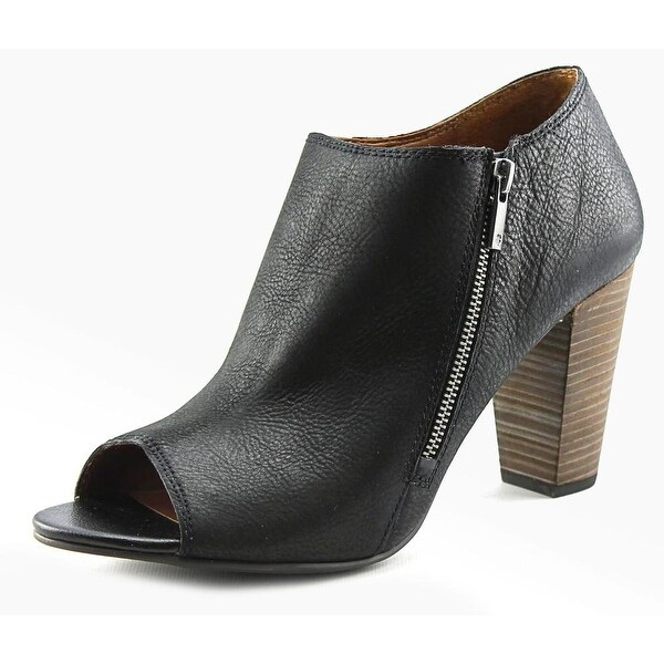 Lucky Brand Pabla Women  Peep-Toe Leather  Ankle Boot