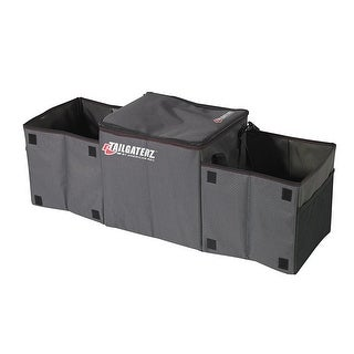 Tailgaterz 4500014 Cool-N-Carry Cooler/Organizer, Game Day Graphite - Black