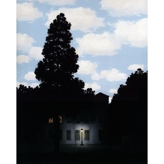 ''L'Empire des Lumieres, 1953-54 (small)'' by Rene Magritte Museum Art Print (14 x 11 in.)