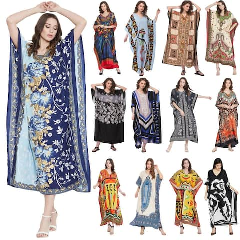 Women Plus Size Clothing Kaftan Hippy Boho Caftan Beach Dresses Long Maxi Dress