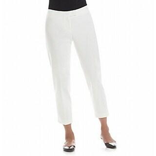 Anne Klein NEW White Women's Size 14X29 Capris Cropped Seamed Pants