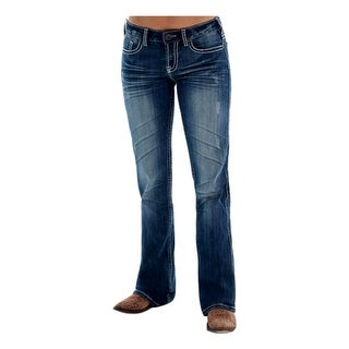 Cowgirl Tuff Western Denim Jeans Womens Edgy Barbed Wire Med JEDGYJ (Option: 36 Inch)