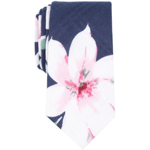 Bar Iii Mens Dylan Floral Self-Tied Necktie - One Size