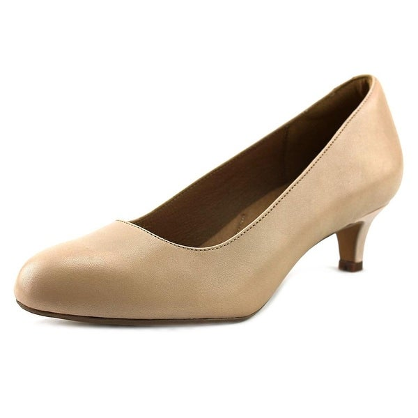 Clarks Artisan Heavenly Shine Women Round Toe Leather Nude Heels
