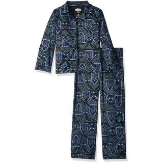 Marvel Boys 6-12 Black Panther Coat Pajama Set