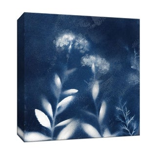 """PTM Images 9-147524  PTM Canvas Collection 12"""" x 12"""" - """"Nature's Indigo II"""" Giclee Flowers Art Print on Canvas"""