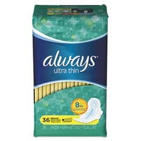 Tide 30656PK Regular Ultra Thin Pads with Wings, 36 per Box