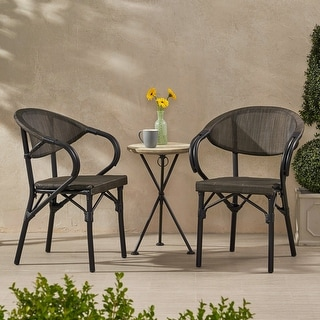 """Meaux Outdoor Parisian Cafe Chair (Set of 2) by Christopher Knight Home - 22.75"""" W x 21.00"""" L x 32.50"""" H"""