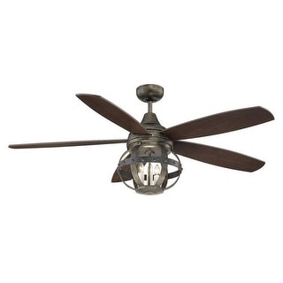 Savoy House 52-840-5 Alsace 5 Blade 3 Light Hanging Ceiling Fan with Remote Control