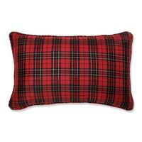 """20"""" Country Rustic Perfectly Plaid Decorative Christmas Throw Pillow - RED"""