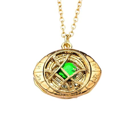 Marvel Doctor Strange Eye of Agamotto Pendant Necklace - Gold
