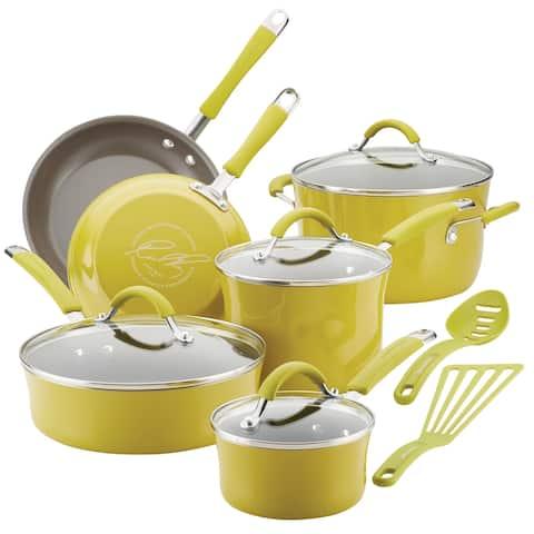 Rachael Ray Cucina Hard Porcelain Enamel Nonstick Cookware Set, 12-pc