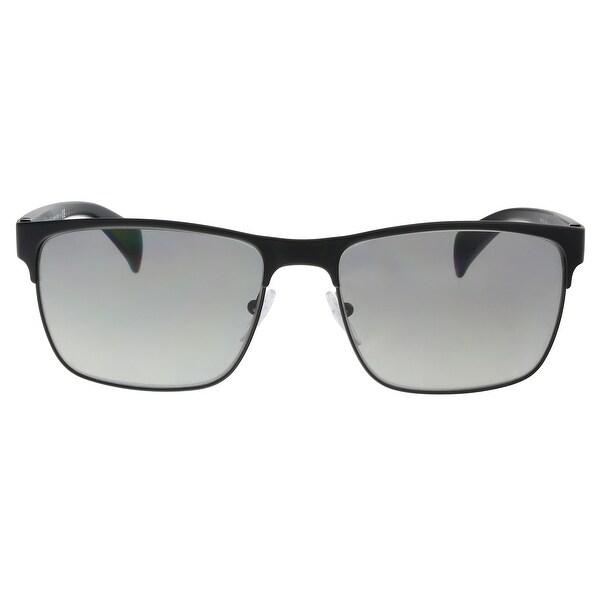 a28dd66d91 Shop Prada PR 51OS FAD3M1 Matte Black Rectangle Sunglasses - 58-17 ...