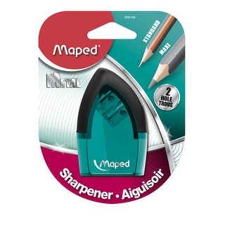 Maped Tonic 2-Hole Pencil Sharpener with Metal Insert, 2-1/2 x 1 Inches, Assorted Colors